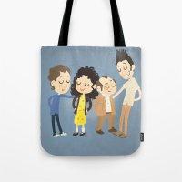 seinfeld Tote Bags featuring My Seinfeld Fantasy by Vera van Groos