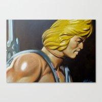 he man Canvas Prints featuring HE-MAN by John McGlynn