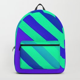 Cyan & Violet Chevron Backpack