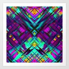 Colorful digital art splashing G472 Art Print