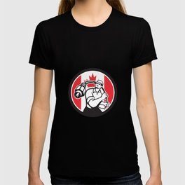 Canadian Cable Installer Canada Flag Icon T-shirt