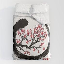 Japanese ENSO ZEN Buddhist SHIRT Duvet Cover