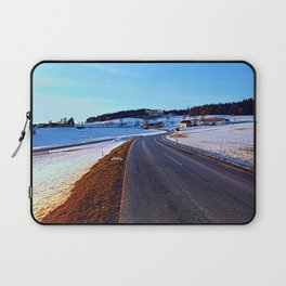 Country road through winter wonderland III | landscape photography Laptop Sleeve