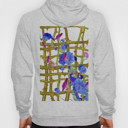 BLUE MORNING GLORIES THORN LATTICE DESIGN Hoody