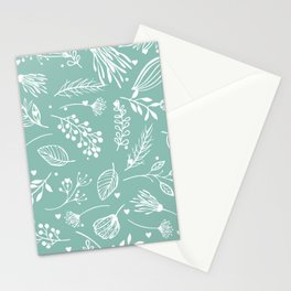 Mint floral Stationery Cards