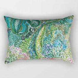 cheerful handmade embroidery in the digital world Rectangular Pillow