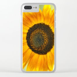 BRIGHT SUNFLOWER Clear iPhone Case