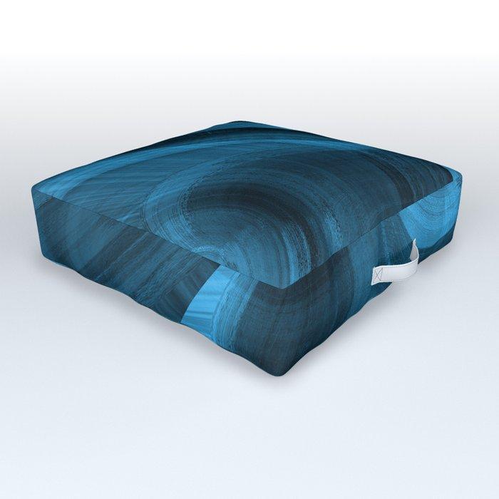 Bluish Black Hole Outdoor Floor Cushion