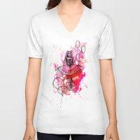 "bubbles V-neck T-shirts featuring Bubbles by Barbora ""Mad Alice"" Urbankova"