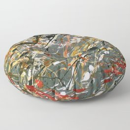 Jackson Pollock Interpretation Acrylics On Canvas Splash Drip Action Painting Floor Pillow