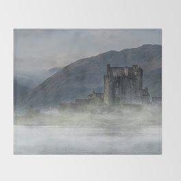 Eilean Donan Castle at dawn Throw Blanket