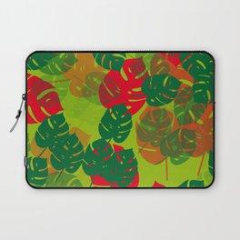 monstera green red Laptop Sleeve