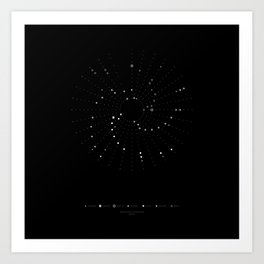 Astronomy Calendar of Celestial Events 2016 Art Print