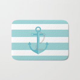 AFE Nautical Aqua Ship Anchor Bath Mat