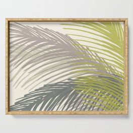Palm Silhouette Series - Neutral Summer Palette Serving Tray
