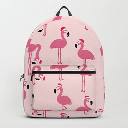 Flock of Christmas Flamingos Backpack