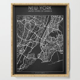 New York City Map Serving Tray