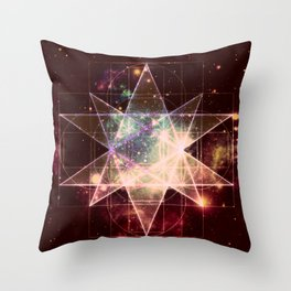 Galaxy Sacred Geometry : Stellated Icoshadron Warmth Throw Pillow