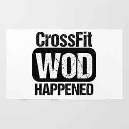 Cross Fit WOD Happened Rug