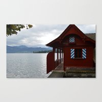 switzerland Canvas Prints featuring Switzerland by Mackenzie Lee