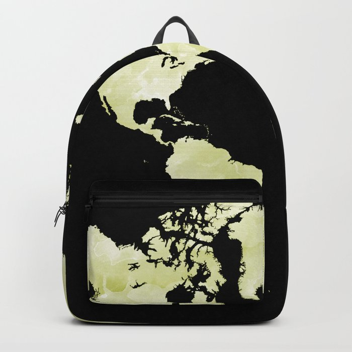 b9ca5ce7be Design 73 World map olive green Backpack by artbylucie