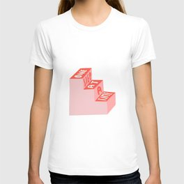 One Step at a Time in pink T-shirt