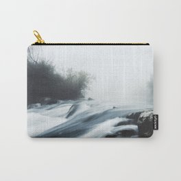 Cascade waterfall on foggy mystical morning Carry-All Pouch