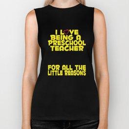 Preschool Teacher Gift – For all the Little Reasons Biker Tank