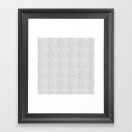 White Apophyllite Close-Up Crystal Framed Art Print
