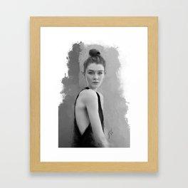"""""""black & white no. 1"""" Framed Art Print"""