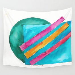 180819 Geometrical Watercolour 3  | Colorful Abstract | Modern Watercolor Art Wall Tapestry