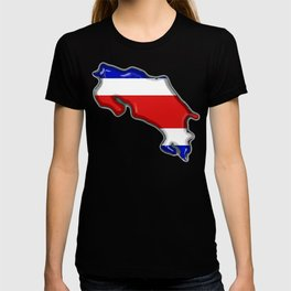 Costa Rica Map with Costa Rican Flag T-shirt