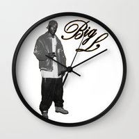 2pac Wall Clocks featuring Big L //Black&White by Gold Blood