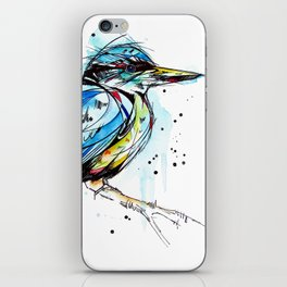 Bold Kingfisher  iPhone Skin