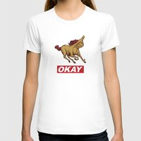 okay T-shirts featuring OKAY by Thomcat23