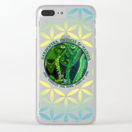 Pastel Petals Garden Gnome Fairy Flower of Life Clear iPhone Case