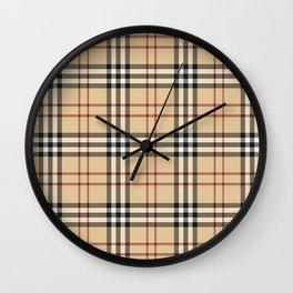Tartan Plaid B Wall Clock