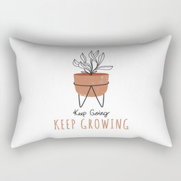 Keep Going Keep Growing - Terra Cotta Rectangular Pillow