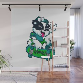 Skater panda Wall Mural