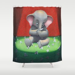 the elephant and its folds. Shower Curtain