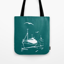 Comrades in Turquoise Tote Bag