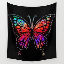 Psychedelic Butterfly Wall Tapestry