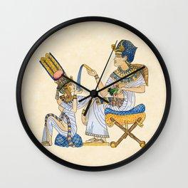 King Tut and Queen Ankhesenamun Wall Clock