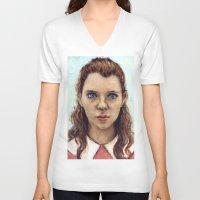 karu kara V-neck T-shirts featuring Suzy - Moonrise Kingdom - Kara Hayward by Heather Buchanan
