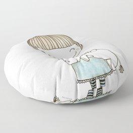 unicorn girl Floor Pillow