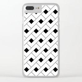 Monochrome Intricate Pattern Alpha Clear iPhone Case