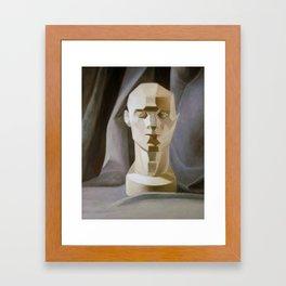 Cast Head with Drapery Framed Art Print