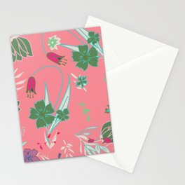 Petite Summer Coral Stationery Cards
