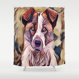 The Norwegian Elkhound Shower Curtain