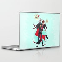 yaoi Laptop & iPad Skins featuring PruMano superheroes by Jackce